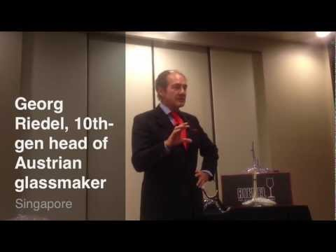 Georg Riedel's intro to glass tasting workshop
