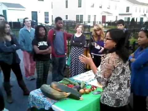 Feed the barrel..student Temple University visit organic farm Philadelphia