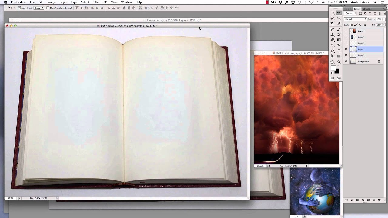 how to make a book look old in photoshop