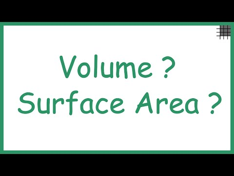 What Do We Mean By Volume And Surface Area?