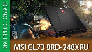 Экспресс-обзор ноутбука MSI GL73 8RD-248XRU