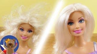 Barbie Hair jak je zkrášlit | Jak budou zacuchané vlasy zase hezké? DIY Barbie Idea