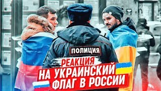 РЕАКЦИЯ НА УКРАИНСКИЙ ФЛАГ В РОССИИ / САНКТ-ПЕТЕРБУРГ/ Реакция полиции на социальный эксперимент #56