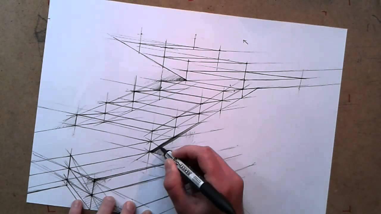 Rysunek Odręczny Architektoniczny Jak Narysować Schody Cz3 Youtube