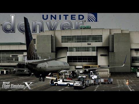 FSX [HD] - United 737-800 Descent Into Snowstorm | Denver Colorado