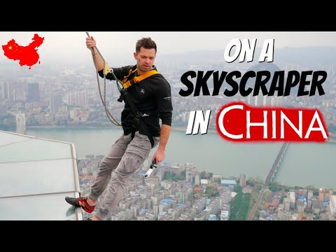 HANGING OFF A 76 STORY SKYSCRAPER in Liuzhou China!
