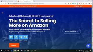 Amazon SellerCon 2019 - The Biggest Live Amazon Seller Ecom Event How to Sell on Amazon 30% Discount