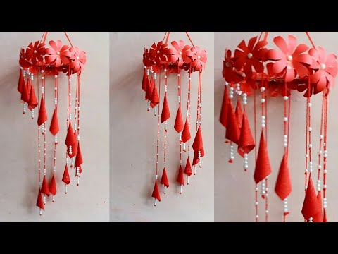 Beautiful wind chime | Diy paper craft idea | paper wind chime idea | decoration ideas | #MA104