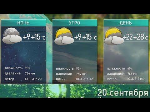 Прогноз погоды на 20 сентября