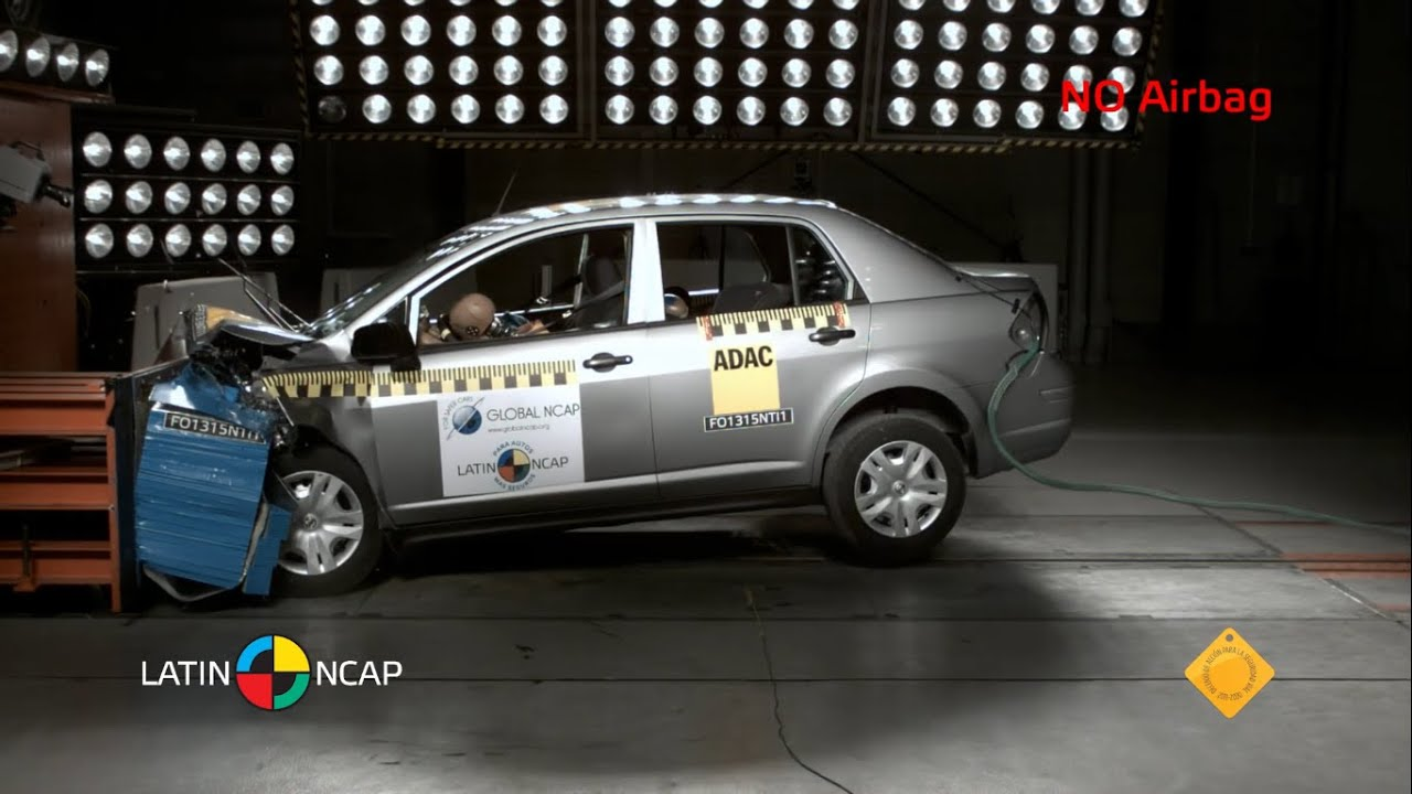 LATIN NCAP  Nissan Tiida  NO Airbags  0 star safety rating