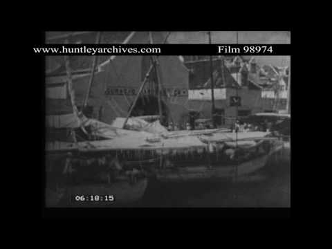 Curacao's floating Market, 1937.  Archive film 98974