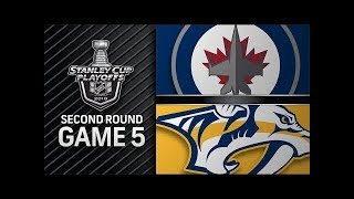 NHL 18 PS4. 2018 STANLEY CUP PLAYOFFS SECOND ROUND GAME 5: WEST JETS VS PREDATORS. 05.05.2018 !