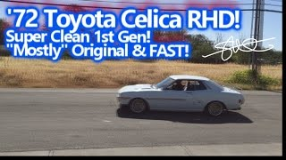 '72 Toyota Celica Right Hand Drive Ripping it up - Super Clean 1st Gen - FAST