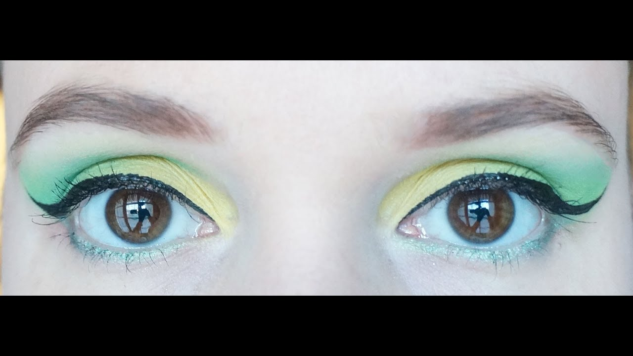 maquillage yeux vert et jaune youtube. Black Bedroom Furniture Sets. Home Design Ideas