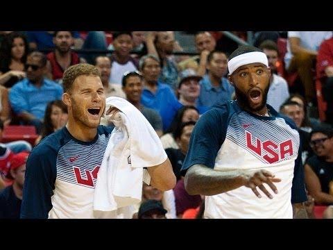 Team Blue vs Team White USA Basketball  2016 Full Game Highlights