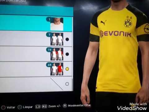 new product 369e9 0550c Borussia Dortmund kits 2019 PES 2018 PS3