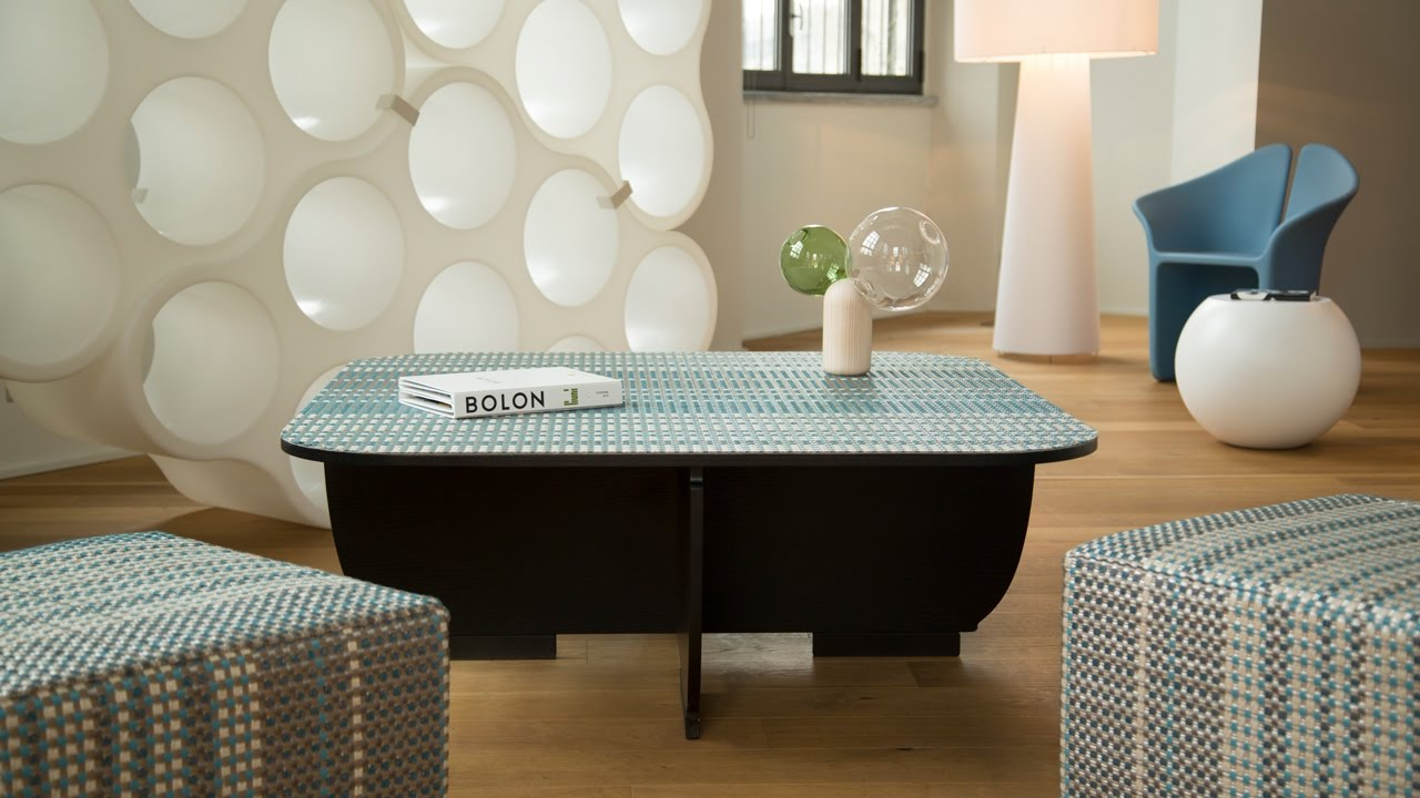 Cellini Uses Bolon S Flooring Material As Upholstery For Experimental Furniture