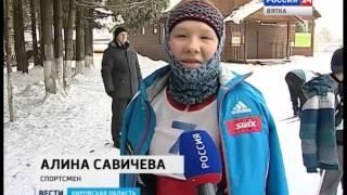 В Порошино прошли лыжные соревнования среди людей со слабым зрением (ГТРК Вятка)