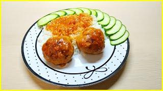 Мясные тефтели с рисом в томатной подливе//Гарнир к пюре, гречке, макаронам