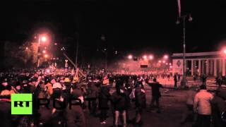 Ukraine: Diy Medieval Catapult Fired By Kiev Protestors