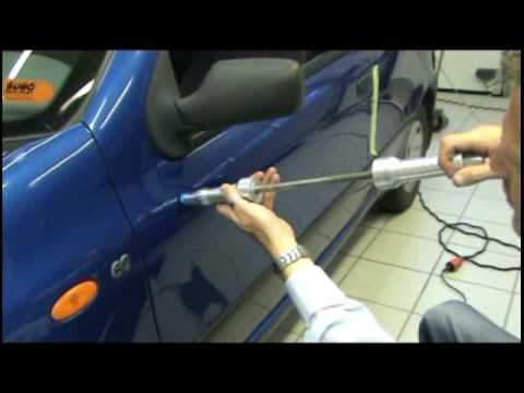 Repair a dent easy and fast with dent pulling and PDR tools