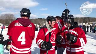 Pond Hockey Classic on Winnipesaukee with Lake Life Realty
