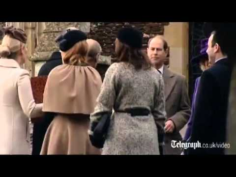 Video  Queen attends Christmas Day service at Sandringham   Telegraph mp4