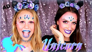 Dark Unicorn Halloween Makeup and Costume!