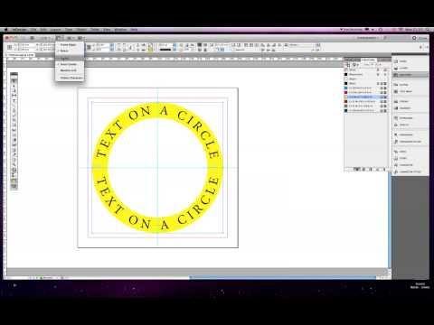 write around a circle indesign cs5