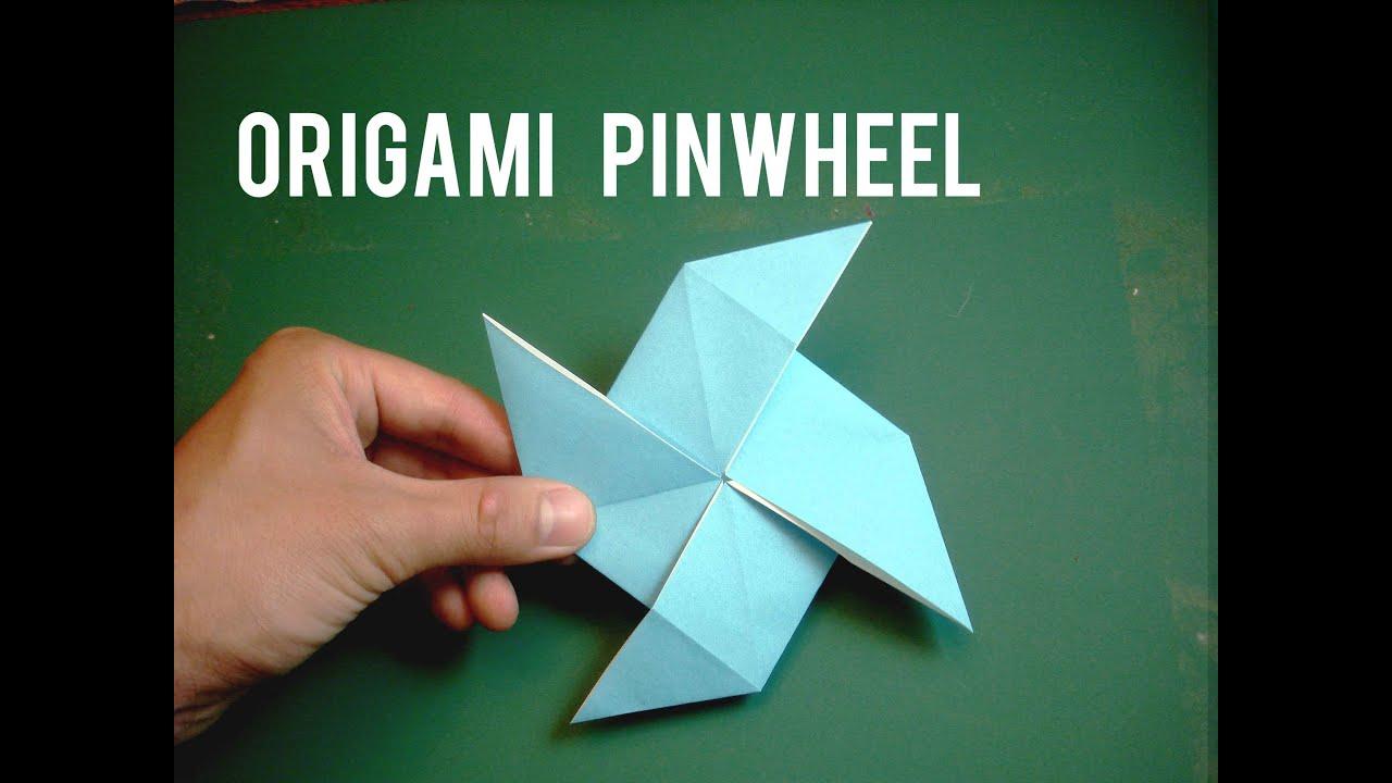 how to make an easy origami pinwheel youtube