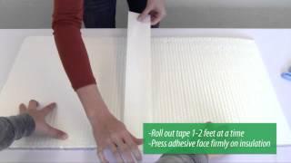 """EcoFoil White Poly Insulation Tape- 3"""" x 150' Thumbnail"""