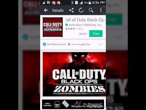 call of duty black ops zombies for free ios