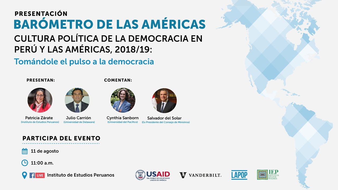 Barómetro de las Américas. Cultura política de la democracia en Perú y las Américas, 2018/19