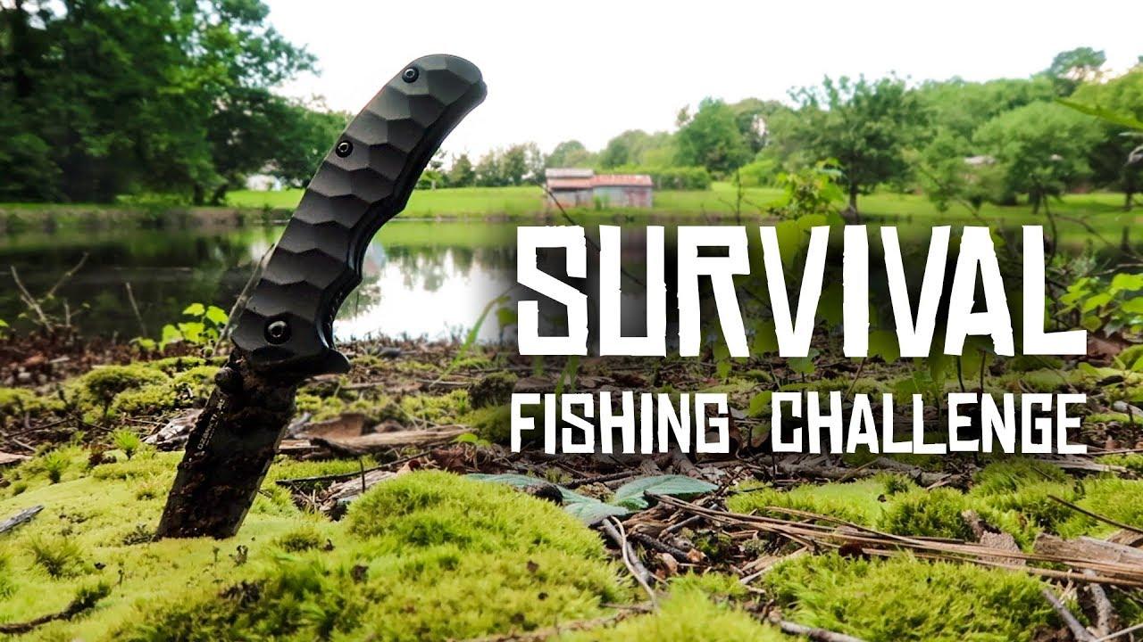 Survival Fishing Challenge No Rod No Reel No Bait
