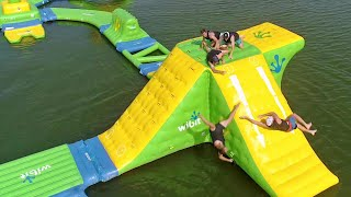Nerf Blasters Floating Island Battle | Dude Perfect