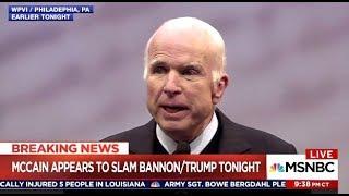 Senator McCain Slams Bannon & TRUMP - Lawrence O'Donnell (MSNBC)
