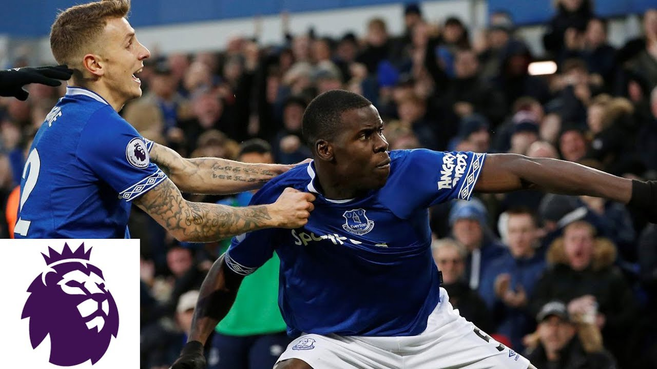 Kurt Zouma's header puts Everton in front | Premier League | NBC Sports