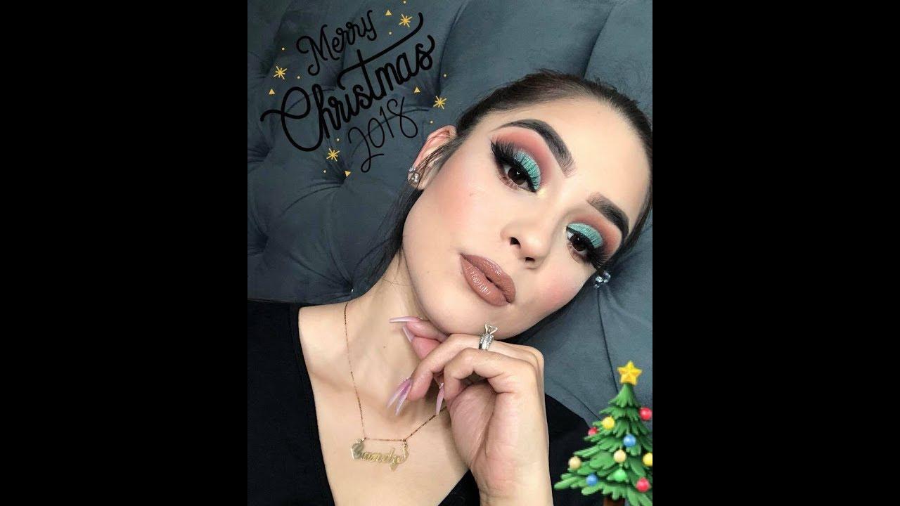 Maquillaje Navideño🎄(glitter verde)✨♥️