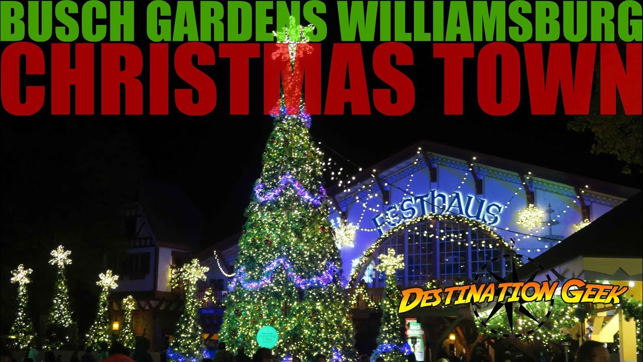 christmas town at busch gardens williamsburg 2017