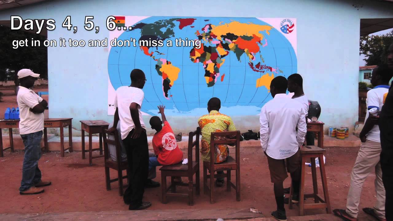 World map project how to plan paint peace corps ghana youtube world map project how to plan paint peace corps ghana gumiabroncs Images