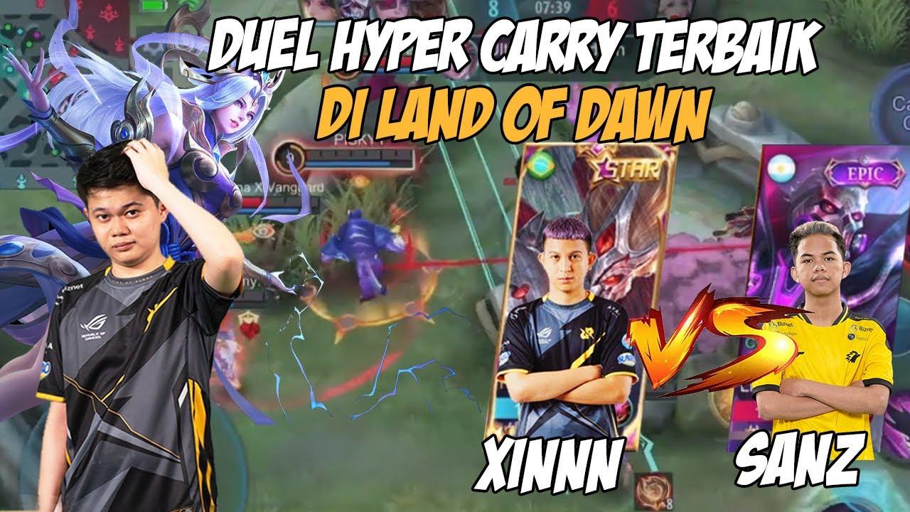 Download PERTARUNGAN HYPER CARRY TERBAIK DI LAND OF DAWN!! XIN VS SANZ