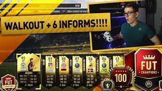 FIFA 17: WALKOUT + 6 INFORMS IN PACK OPENING 🔥😱 (DEUTSCH) - ULTIMATE TEAM - FUT CHAMPIONS REWARDS!