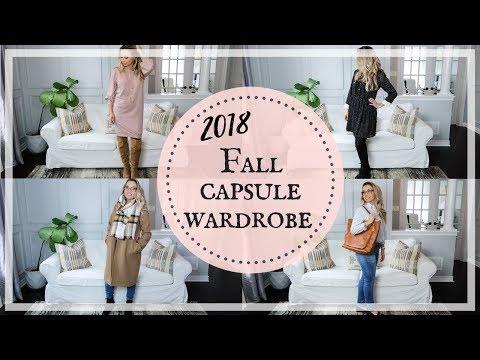 FALL OUTFITS 2018  AUTUMN CAPSULE WARDROBE