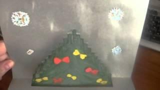 Новогодняя открытка в стиле киригами