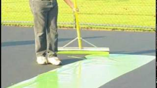 SportMaster ColorPlus System for tennis court resurfacing
