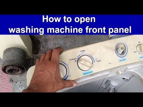How to open washing machine front panel open semi automatic front