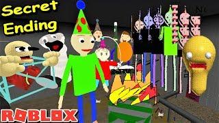 GEHEIMES ENDE!! BALDI'S BIRTHDAY BASH IN ROBLOX!! | Die seltsame Seite von Roblox: Baldis Grundlagen RP