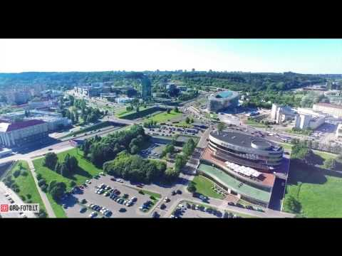 Vilnius Capital of Lithuania aerial video