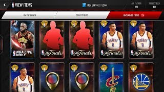 VARIETY PACK OPENING! (Baller Packs, Playoffs, Finals, Fan Favorite) NBA Live Mobile