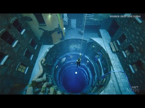 Dubai 60-metre-deep pool sets new depth record